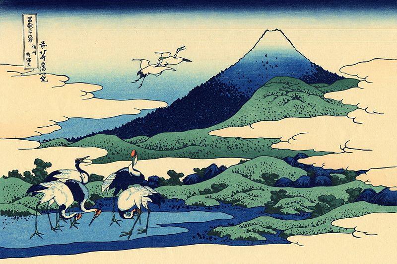 Trentasei vedute del Monte Fuji, Hokusai