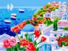 Santorini: due vele all'orizzonte