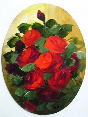 Dipinti e quadri di natura morta for Quadri con rose rosse