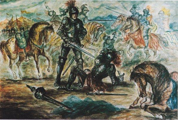 Tav.VII - Fieramosca batte a duello La Motte