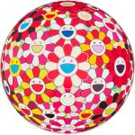 Takashi Murakami, Flowerball 3D Goldfish Colors, tecnica mista, 71x71cm, 300 esemplari, firmato e numerato, 2010
