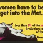 Manifesto delle Guerrilla Girls negli anni '80
