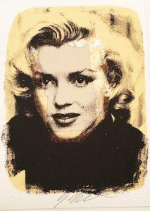 Giuliano Grittini, Marilyn Gold, tecnica mista, 26x19 cm, 2015