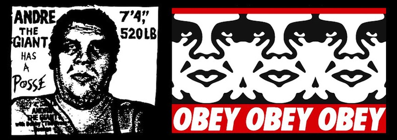 """Andre The Giant"" diventa ""Obey""."