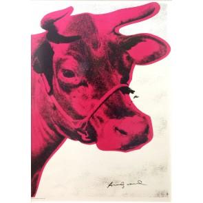 Andy Warhol, Cow, firmata a pennarello nero