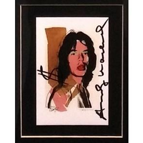 Andy Warhol, card jaggher firmata a pennarello nero e simbolo $