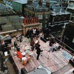 I Beatles sul tetto della Apple Records.