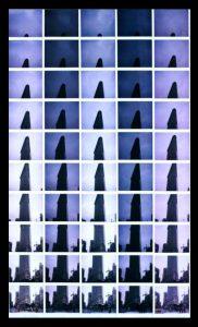 Maurizio Galimberti, New York Flat Iron n°7, Mosaico di Polaroid, Pezzo Unico, 2010.
