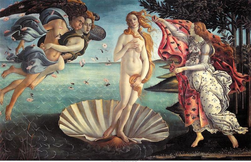 Nascita di Venere di Sandro Botticelli