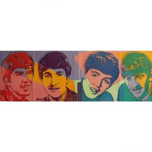"Andy Warhol, ""The Beatles"". Litografia su carta. Disponibile presso la Galleria Deodato Arte."