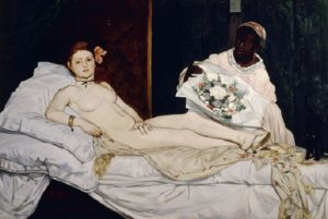 FRANCE - CIRCA 2002: Olympia, 1863, by Edouard Manet (1832-1883), oil on canvas, 130x190 cm. (Photo by DeAgostini/Getty Images); Paris, Musée D'Orsay (Art Gallery). (Photo by DeAgostini/Getty Images)