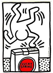 Lucky Strike, Keith Haring - Opera disponibile presso la Galleria Deodato Arte