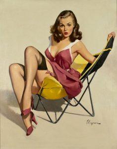 Pin Up - illustrazione di Gil Elvgren
