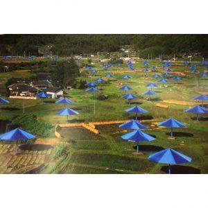 The Umbrellas- Japan poster dell'artista Christo firmato disponibile presso la Galleria Deodato Arte