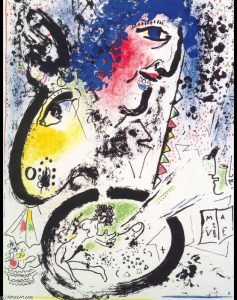 Marc Chagall, Autoritratto, disponibile alla Galleria Deodato Arte.