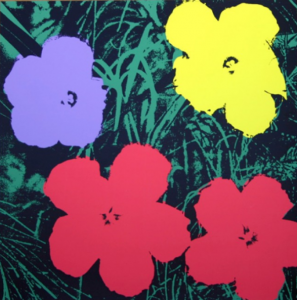 Flowers-Red/Purple/Yellow On Green 11.73. Disponibile alla Galleria Deodato Arte.