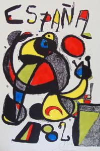 Joan Miró, Coppa del Mondo Spagna 82, 1981 litografia, cm 95,3x60.