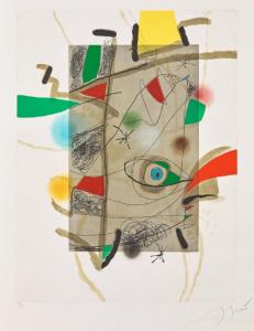 Joan Miró Sans Titre III, 1981 incisione ad acquatinta su carta Guarro, cm 92x72,5, disponibile presso la galleria Deodato Arte