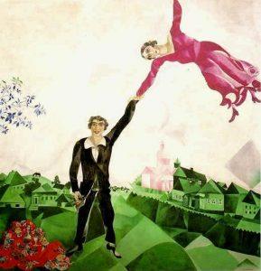 Marc Chagall, Passeggiata, olio su tela.