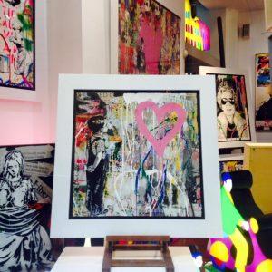 Mr. Brainwash, With all my love, in esposizione disponibile alla Galleria Deodato Arte.