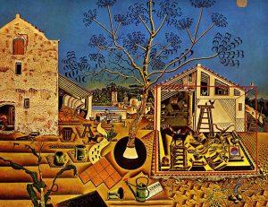 Joan Mirò - La Fattoria opera esposta presso la National Art Gallery di Washington