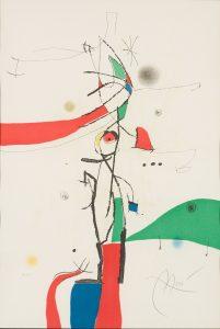 Joan Mirò - Mondana alla Finestra, 1975, incisione ad acquatinta firmata e numerata