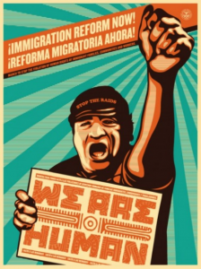 Immigration reform now, Obey, serigrafia firmata e numerata, disponibile alla Galleria Deodato Arte.