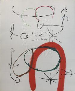Senza Titolo, proveniente dalla collezione del Libro Incisorio con il poeta Prevert, 1975