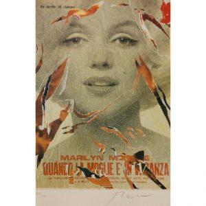 Quando La moglie è in Vacanza - Mimmo Rotella, proveniente dal libro Marilyn Bellezza Eterna con le poesie di Alda Merini