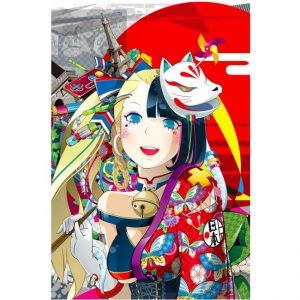 La Volpe - serigrafia dell'artista Hiroyuki Takahashi disponibile presso la Galleria Deodato Arte