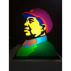 Mao - Scultura luminosa by Marco Lodola disponibile presso la galleria Deodato Arte