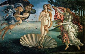 The birth of Venus - Sandro Botticelli, 1485