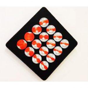 Oggetto cromocinetico a sfere - opera di Franco Costalonga