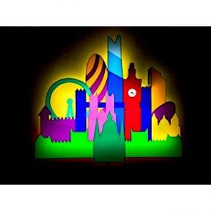 Londra - scultura luminosa in perspex e neon disponibile presso la galleria Deodato Arte