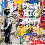 Dream Big Dream - opera unica di Mr. Brainwash disponibile presso la galleria Deodato Arte