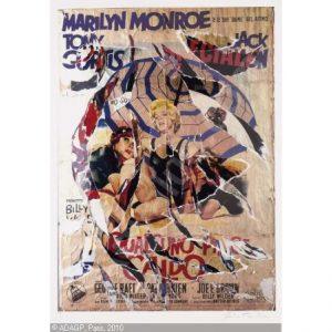 A qualcuno piace caldo - Seridecollage di Mimmo Rotella disponibile presso la galleria Deodato Arte