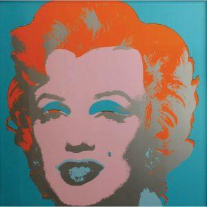 Marilyn Monroe Blue - Serigrafia firmata di Andy Warhol disponibile presso la galleria Deodato Arte