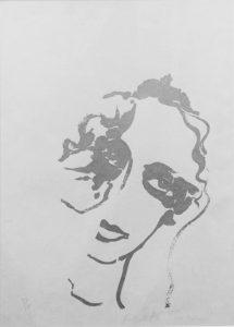 Giosetta Fioroni, Volto d'Argento 2 - Serigrafia su carta disponibile presso la galleria Deodato Arte