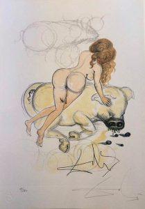 Casanova tavola 6 - incisione firmata da Salvador Dalì disponibile presso la galleria Deodato Arte
