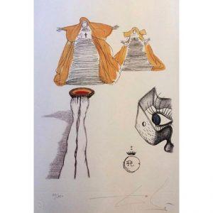 Casanova tavola 10 - Incisione firmata da Salvador Dalì disponibile presso la galleria Deodato Arte