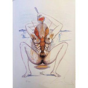 Casanova tavola 2 - Incisione firmata da Salvador Dalì disponibile presso la galleria Deodato Arte