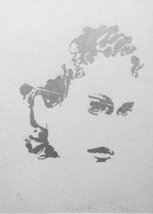 Giosetta Fioroni, Volto d'Argento 1- Serigrafia su carta disponibile presso la galleria Deodato Arte