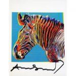 Zebra grigia - card firmata in originale da Andy Warhol disponibile presso la Deodato Arte