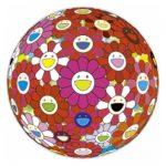 Flower Ball - opera firmata e numerata di Takashi Murakami disponibile presso la galleria Deodato Arte