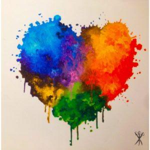 My Heart - poster di Mr.Savethewall disponibile presso la Galleria Deodato Arte