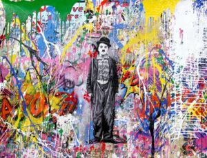 Chaplin - Opera unica di Mr.Brainwash in vendita presso la Galleria Deodato Arte di Milano