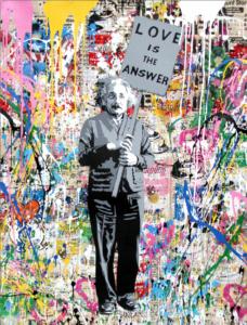 Einstein - Opera unica di Mr.Brainwash in vendita presso la Galleria Deodato Arte di Milano