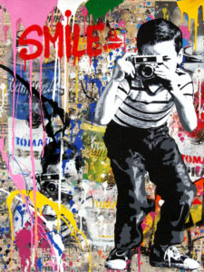Smile - Opera unica di Mr.Brainwash in vendita presso la Galleria Deodato Arte di Milano