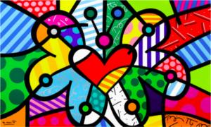 Evolution - opera d'arte di Romero Britto in vendita presso la Galleria Deodato Arte