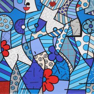 Trinity - Opera d'arte di Romero Britto in vendita presso la Galleria Deodato Arte